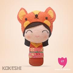 3898 (lycoisasecoisinhas) Tags: orange happy laranja felt lucky fox alegria japo boneca kokeshi sorte raposa lycoisasecoisinhas