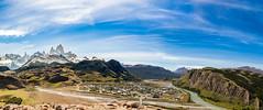 El Chaltén (P▲BLO) Tags: las parque sky patagonia mountains water roy rio clouds trekking de landscape los agua torre paisaje el cerro cielo nubes montaña nacional mirador sendero roja fitz chalten condores glaciares vueltas