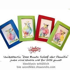 Schafe Sache das, oder? So ein... (wandklex Ingrid Heuser freischaffende Künstlerin) Tags: gay art easter fun rainbow sheep kunst multicoloured ostern greetingcard rainbowflag multicolor regenbogen schaf aquarell malerei handgemalt geschenkidee unikat eastergift ostergeschenk oswoa grusskarte osterkarte auftragskunst auftragsmalerei dawandashop wandklex uploaded:by=flickstagram instagram:photo=11936903756039478801487357881 instagram:venuename=bahnhofratzeburg instagram:venue=51075171 hahnem