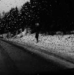 (blazedelacroix) Tags: road white face rain standing eyes waiting mood sweden alien blazedelacroix