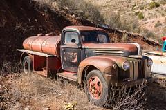 Old Ford Tank Truck (nikons4me) Tags: old arizona ford vintage tank diesel az jerome ghosttown gasoline tanker fuel mobilgas goldkingmine nikonafsdx18200mmf3556gifedvr nikond7100