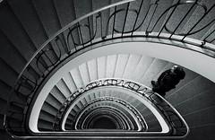 endless spirals (tom_p) Tags: munich münchen spiral blackwhite fuji noiretblanc monaco stairway treppe staircase architektur fujifilm spirale x70 hochhaus schwarzweis 123bw biancoetnero fujifilmx70
