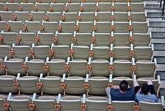 The Crowd (ricko) Tags: people empty columbia missouri seats cupholders mizzouarena