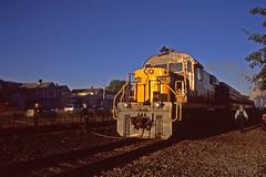 Early Morning Alco: 3 (craigsanders429) Tags: passengertrains passengercars rs18 alcolocomotives ohiocentralrailroad dennisonohio ohiocentralsystem ohiocentral1800