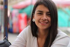 Amiga (vstranger) Tags: portrait woman girl smile mujer friend retrato amiga linda sonrisa timida