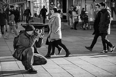 """""""The Street Photographer"""" (Terje Helberg Photography) Tags: street camera city urban blackandwhite bw monochrome norway town spring photographer photoshoot candid citylife streetphotography samsung photograph bergen photosession bnw greyscale visitnorway ilovenorway nx30 visitbergen"""