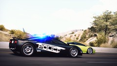 Call 911! (polyneutron) Tags: motion green car photography police f1 depthoffield mclaren videogame needforspeed lamborghini murcielago nfs hotpursuit photomode hp2010