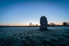 Solid (Ken_Jones) Tags: morning blue england sky cold standing sunrise ancient frost unitedkingdom stones gb druid avebury