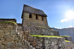 Guardhouse ruin at Machu Picchu in Peru-05 5-24-15