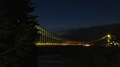 9930 Pont Grog y Borth - the Menai suspension bridge (Andy in relax mode) Tags: mmm bluehour sss ppp ggg bbb menaisuspensionbridge pontgrogyborth 20160318
