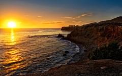 Sunset over the Pacific, California (Trent9701) Tags: ocean california birthday vacation water landscape coast losangeles pacificocean coastline southerncalifornia seashore hdr pacificcoast palosverdes photomatix tonemapped trentcooper terranearesortandspa