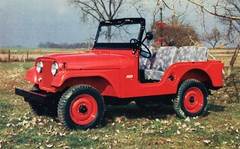 1955 Willys Jeep (aldenjewell) Tags: 1955 jeep postcard willys