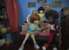 group (Catfishy2u) Tags: yellow ball doll ranger power raspberry pearl bjd garnet jointed adori amond dollsbe harucasting