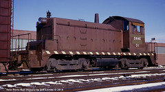 Duluth & Northeastern Railroad EMD SW-1 31  Cloquet, MN  Feb. 7, 1964 (Twin Ports Rail History) Tags: twin ports rail history by jeff lemke time machine dne duluth northeastern railroad emd sw1 diesel electric locomotive cloquet minnesota