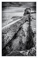 Pulpit Rock (don't count the pixels) Tags: portland coast seaside rocks break dorset geology cracks rockstack portlandbill pulpitrock