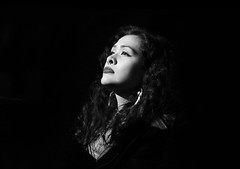 Survive (kirstiecat) Tags: blackandwhite music woman monochrome festival female fan audience crowd illumination levitation stranger