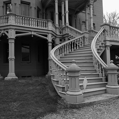 Hegeler Carus Mansion - La Salle, IL - 5DS - 26 APR 2016 - 040 (Andre's Street Photography) Tags: old blackandwhite art blancoynegro stairs canon eos illinois estate noiretblanc zwartwit antique fine architect staircase lasalle mansion bwphotography industries chemical ef1740f4l boyington carus dryrot 5ds lasalleil zwartwitfotografie hegelercarusmansion hegeler lasalleil5ds26apr2016