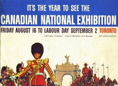 Toronto Canada 1963 - Canadian National Exhibition - Father Harrassing a Russian (all day) / On My Own (and loving it) (ramalama_22) Tags: new york horse toronto canada women dream fair canadian exhibition cne souvenir national worlds 1960s bagpipes russian 1963 mounties 19645 gloveless