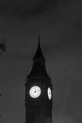 London 45702bw (kgvuk) Tags: nightphotography london housesofparliament bigben clocktower parliamentsquare elizabethtower