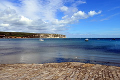 Swanage Quayside (karenmarquick) Tags: sea sun landscape may quay dorset swanage