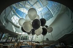 Balloons (Gordon-Shukwit) Tags: california balloons cityhall sanjose rotunda sonya7rm2