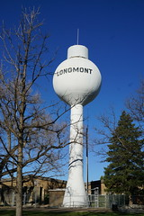 White in Blue (Let Ideas Compete) Tags: white colorado longmont watertower co