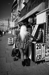We Sell Fags (nigelhunter) Tags: street urban tower love for chair dummies looking candid we blonde push fags cigarettes sell blackpool pram