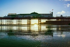 09-04-2016 From Pier to Pier (elgar22) Tags: sunset brighton westpier glowing lowtide hdr palacepier oped2016 lightroomgroup