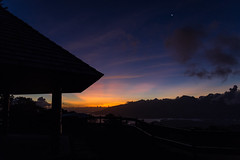 Last rays of sun behind Tahiti (Sara Fournier) Tags: sky sun france night stars soleil tahiti nuit toiles frenchpolynesia presquile polynsiefranaise taravao fenua