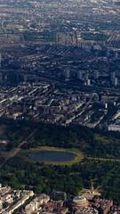 Aerial of Kensington Gardens, London in July 2014 (Copper_Beech221) Tags: uk england london royalalberthall britain july aerial kensingtongardens roundpond albertmemorial 2014