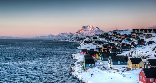 Sunset on Sermitsiaq