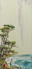 Justin Gaffrey SS 14x30-2016-079 (Justin Gaffrey) Tags: trees lake green art nature painting landscape artist florida dune cream coastal distressed 30a lakescape sowal justingaffrey