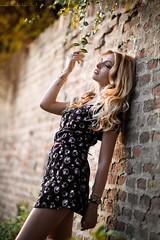 Lily (lucafoscili) Tags: light portrait italy woman girl beautiful beauty face fashion hair outdoors model glamour nikon italia dress bokeh longhair naturallight blonde parma blondehair d800 nikond800 lucafoscili