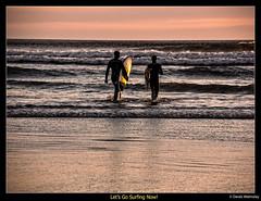 Derek W.-Sunset Surf Tofino #3 Let's Go Surfing Now (Derek Walmsley) Tags: ocean sunset beach reflections tofino surfers 2016 coxbaytofino