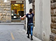 """ Gesturing "" (pigianca) Tags: italy florence streetphoto urbanphoto leicaq"