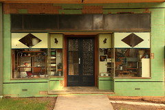 Milgate's Pharmacy Facade (Darren Schiller) Tags: door old morning windows history abandoned shop facade rural store closed decay empty rustic pharmacy newsouthwales disused derelict deserted smalltown decaying dilapidated chemist glendavis