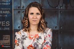 Mikaela (salas-3) Tags: woman beautiful face hair studio photography nikon dress headshot skeweyed