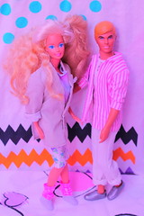 Oh her? shes just my sister. (Vuffy VonHoof) Tags: gay cute vintage toy toys photography couple doll neon bright pastel dream ken barbie retro 80s kawaii blonde date dates 90s brite sprakle dolsl