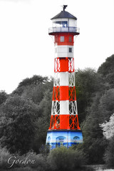 Lighthouse on the Elberiver (gnterchristian.thomsen) Tags: lighthouse hamburg elbe blankenese leuchtturmelberiver