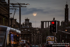 (Almost) Full Supermoon in Edinburgh, Scotland