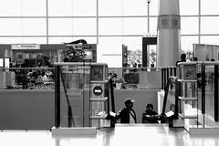 Welcome (r.triananda) Tags: blackandwhite travelling indonesia airport escalator terminal3 cengkareng soekarnohatta airportstreetstyle