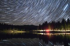 Kreis Pond Startrails (kevin-palmer) Tags: autumn sky reflection fall night dark stars lights october montana astrophotography astronomy campground starry startrails 2013 kevinpalmer astrometrydotnet:status=failed chpaaqnpeak pentaxk5 samyang14mmf28 kreispond astrometrydotnet:id=nova1379419