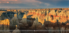 Coal Mine Canyon - Arizona - USA (~ Floydian ~ ) Tags: sunset arizona usa nature america canon landscape photography evening landscapes rocks dusk canyon wash hoodoo sedimentary hoodoos coalmine tubacity moenkopi coalminecanyon floydian leefilters canoneos1dsmarkiii henkmeijer