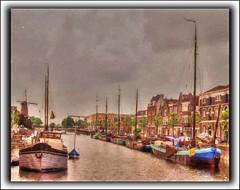 Rotterdam,Holland (williamwalton001) Tags: boats buildings windmill water sky pentaxart trolled dockbay