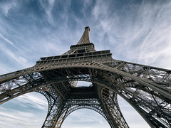Looking Up (Shahil H.) Tags: urban paris tower skyline landscape cityscape tour eiffeltower eiffel m43 microfourthirds omdem10
