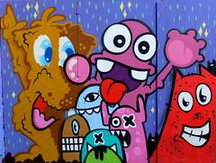 Lastplak & Friends - Timmer (oerendhard1) Tags: friends urban streetart art graffiti boat cafe rotterdam kat die das edo timmer rath lastplak nol oxalien