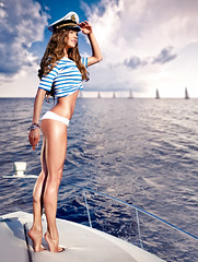 Attractive girl on a yacht at summer day (tigercop2k3) Tags: ocean travel cruise blue sea summer vacation people woman white hot sexy beach water girl beautiful beauty smile sunshine female sailboat relax outdoors happy person boat model marine european ship sitting legs yacht body joy young tan lifestyle attractive sail rest recreation sailor nautical elegant relaxation luxury buoy caucasian russianfederation uniformcap zzzabnaaakejenehfpdadadadhcndb