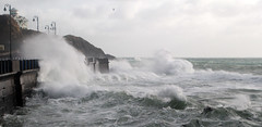 Stormy Seas. (Chris Kilpatrick) Tags: chris winter sea cold nature water waves outdoor windy rough february douglas isleofman hightide irishsea canon60d