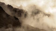 Trolls in the Mist (blue polaris) Tags: park new summer cloud mist fog landscape volcano crossing zealand alpine national valley tongariro northern volcanic circuit oturere