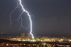 Coup de foudre sur le complexe du Tricastin (suarez.christophe) Tags: storm night thunderstorm lightning nuit orage centrale vaucluse stormchasing orages nuclaire clair montlimar stormchaser foudre clairs pierrelatte